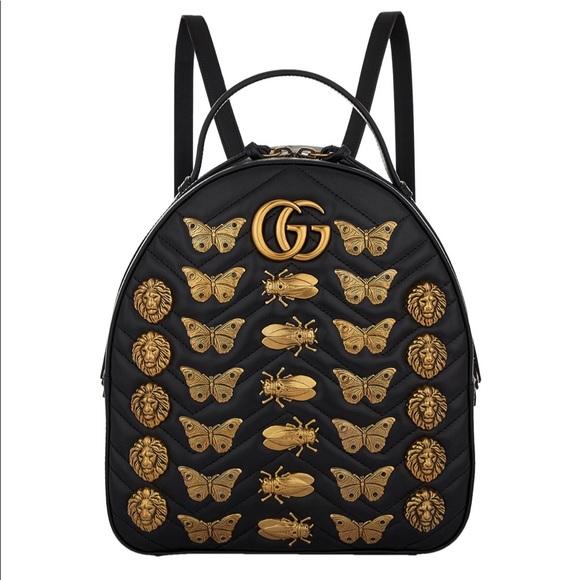 c5f8afaeb131 Gucci Bags | Backpack Calfskin Matelasse Animal Studs Gg | Poshmark
